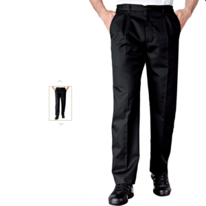 Koksboek funandoc in het zwart pantalon.